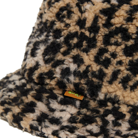 Leopard Fleece Bucket Hat
