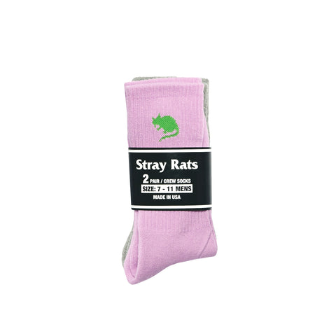 Rat Logo 2 Pack Crew Sock