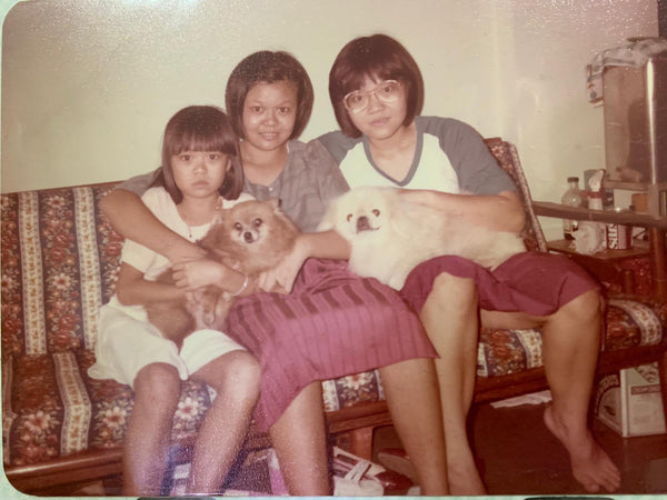 Nona Lim Childhood Photo with her sisters.