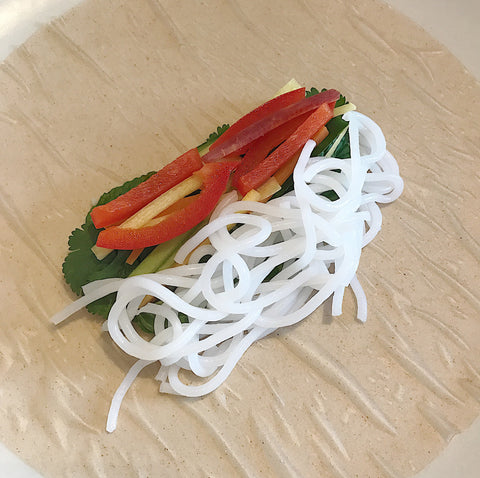 Vietnamese Summer Wraps with Nona Lim Laksa Noodles