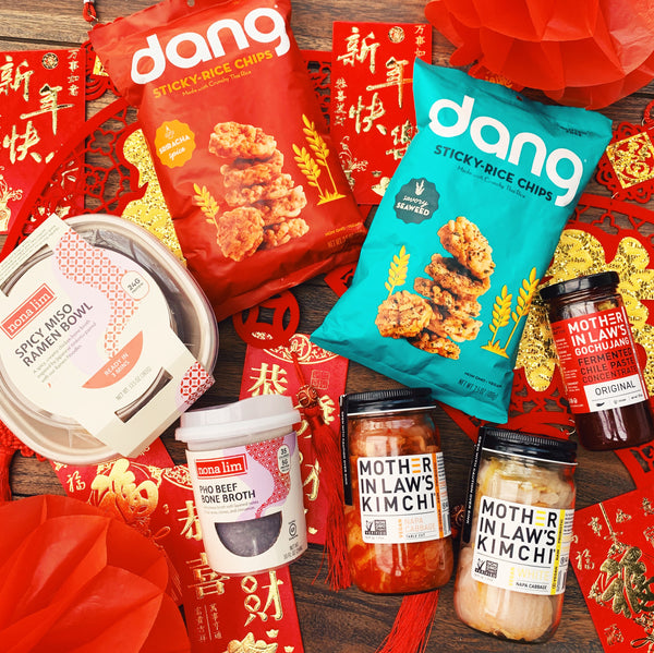 Lunar New Year Dang, Nona Lim and Mother-in-Law's Kimchi products with red packets