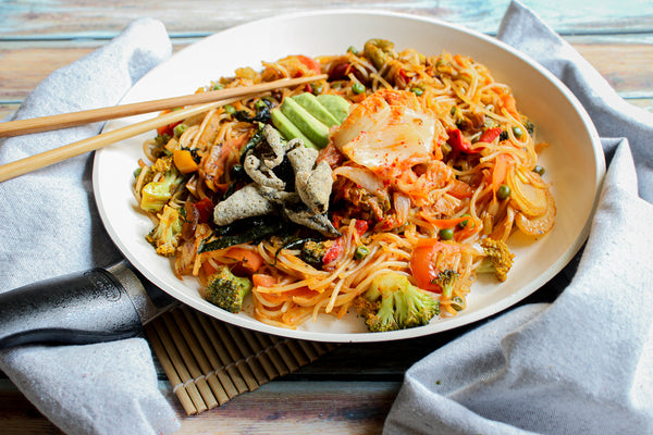 Spicy Korean Ramen Stir Fry noodle dish