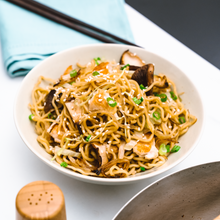 Teriyaki Ramen with chicken and mushrooms