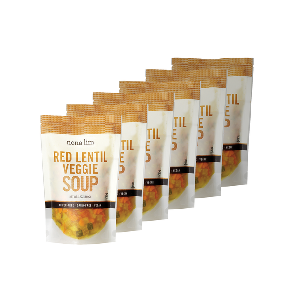 Red Lentil Veggie Soup 12 oz Pouch (6 Pack)