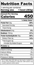 Nona Lim Green Curry Noodle Bowl Nutrition Facts