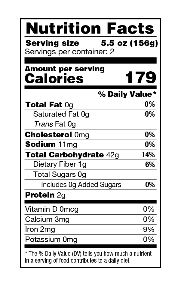 Nona Lim Fresh Laksa Rice Noodles Nutrition Facts