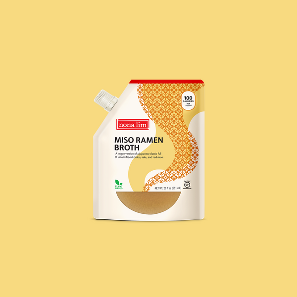 Nona Lim Japanese Miso Ramen Broth Pouch. Vegan, Gluten free and Dairy free