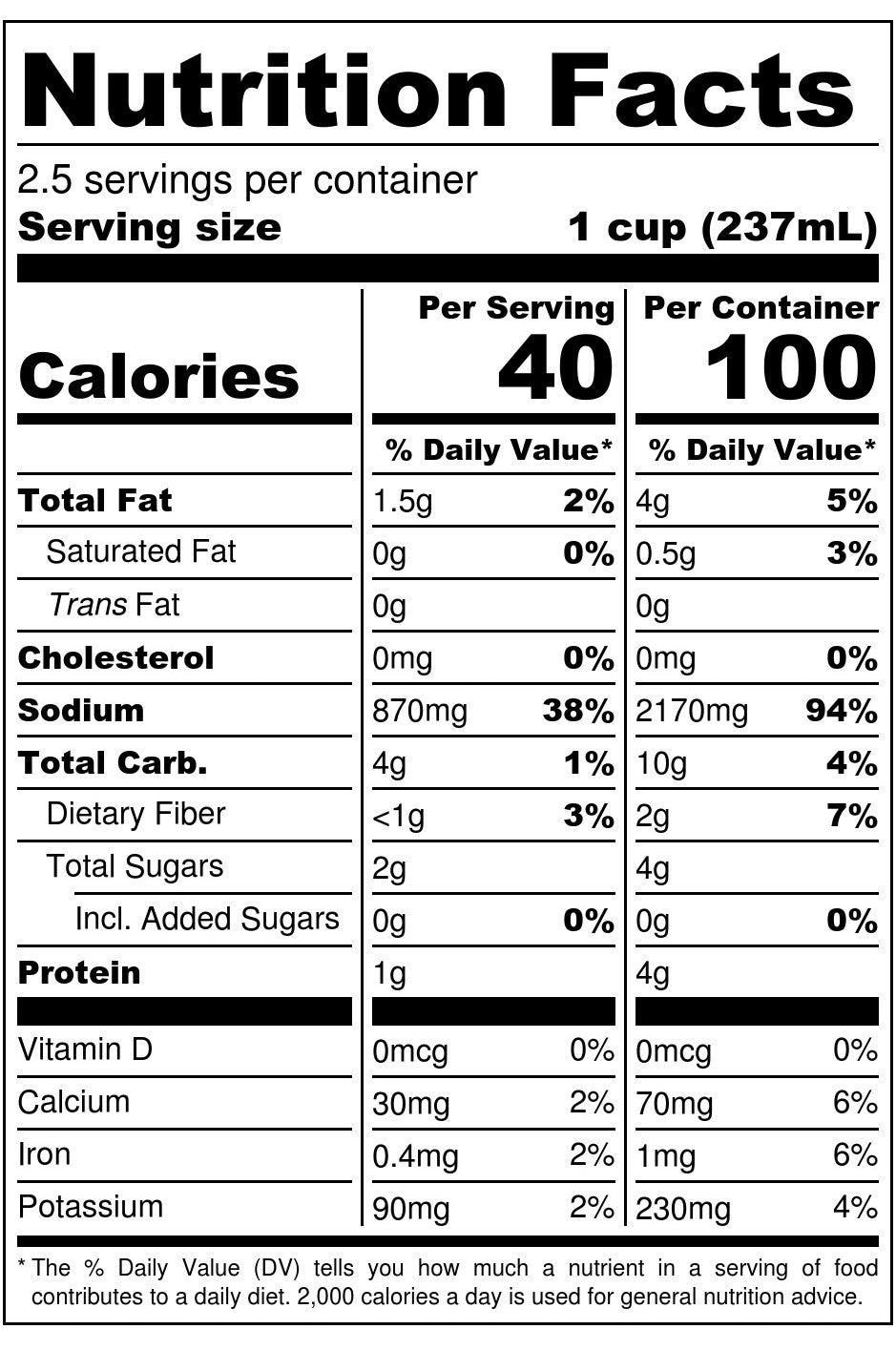 Nona Lim Miso Ramen Broth Pouch Nutrition Facts