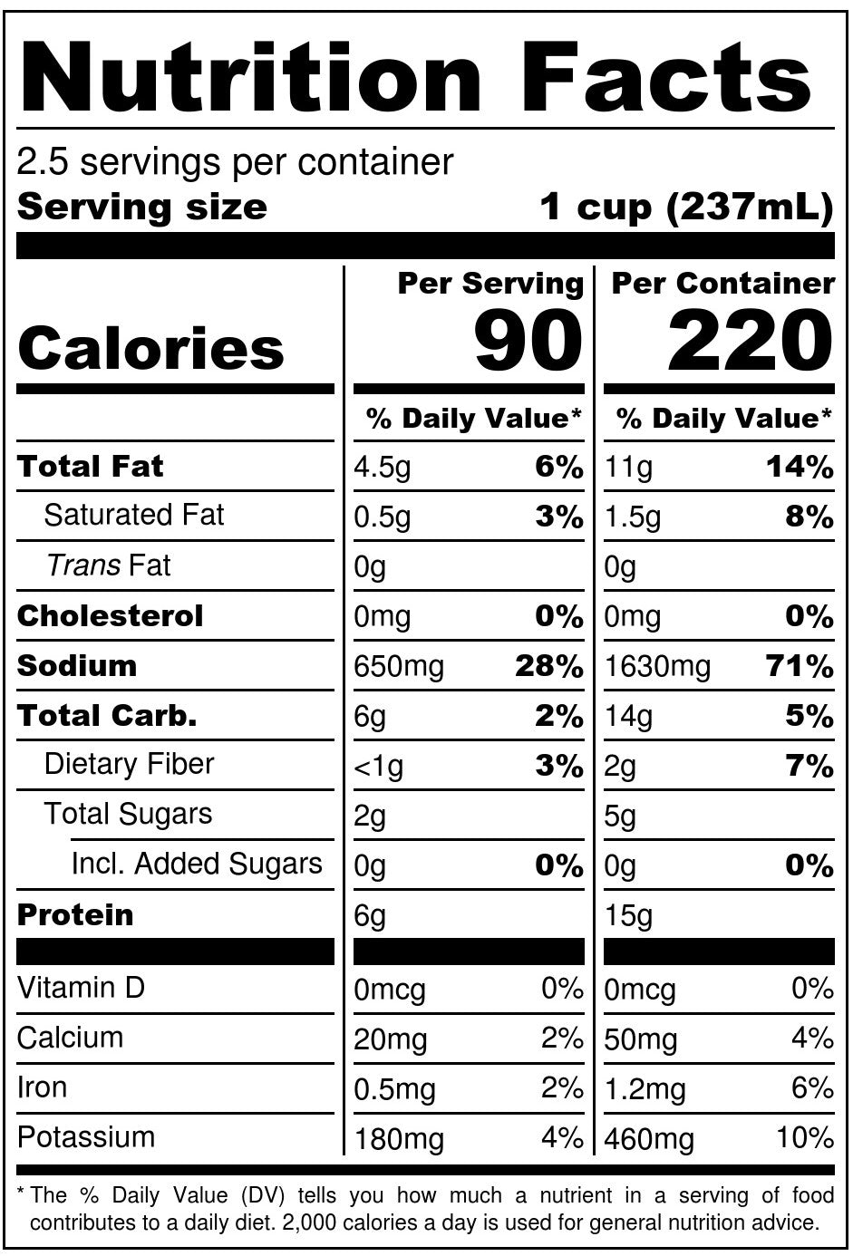 Nona Lim Spicy Chicken Ramen Beef Bone Broth Pouch Nutrition Facts
