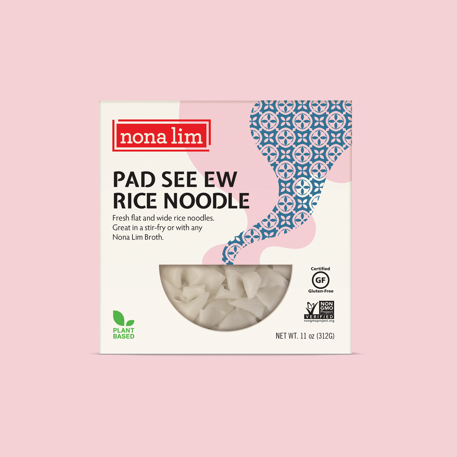 Nona Lim flat wide gluten free Rice Noodles