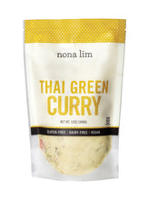 Nona Lim Thai Green Curry Pouch. Vegan, Gluten free, Dairy free, and Non GMO.