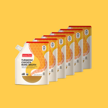 Nona Lim Turmeric Chicken Bone Broth Pouch 6 Pack