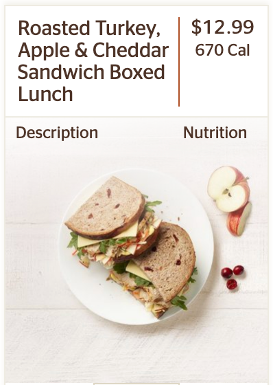 Panera's Roasted Turkey, Apple & Cheddar Sandwich