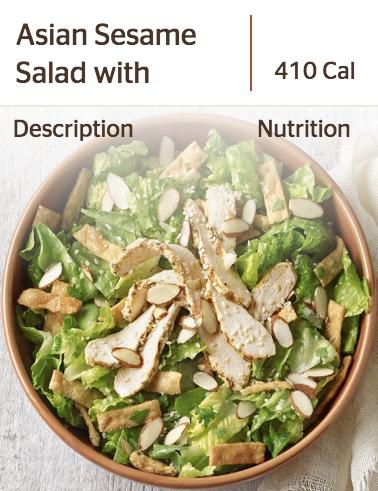 Panera's Asian Sesame Salad
