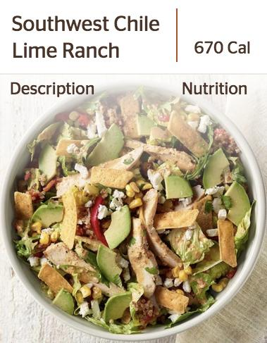 Panera's Southwest Chile Lime Ranch Salad