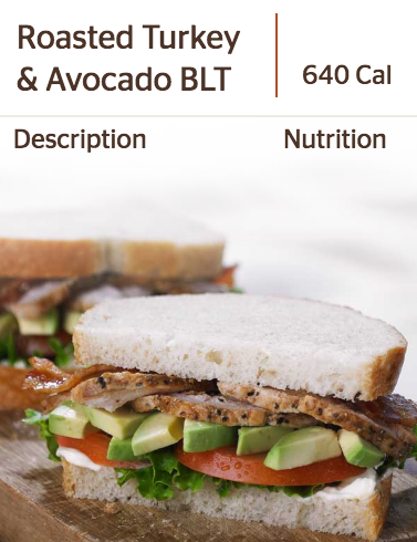 Panera's Roasted Turkey & Avocado BLT Sandwich