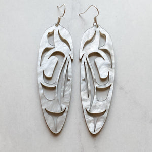 Feather Earrings - Acrylic 3""