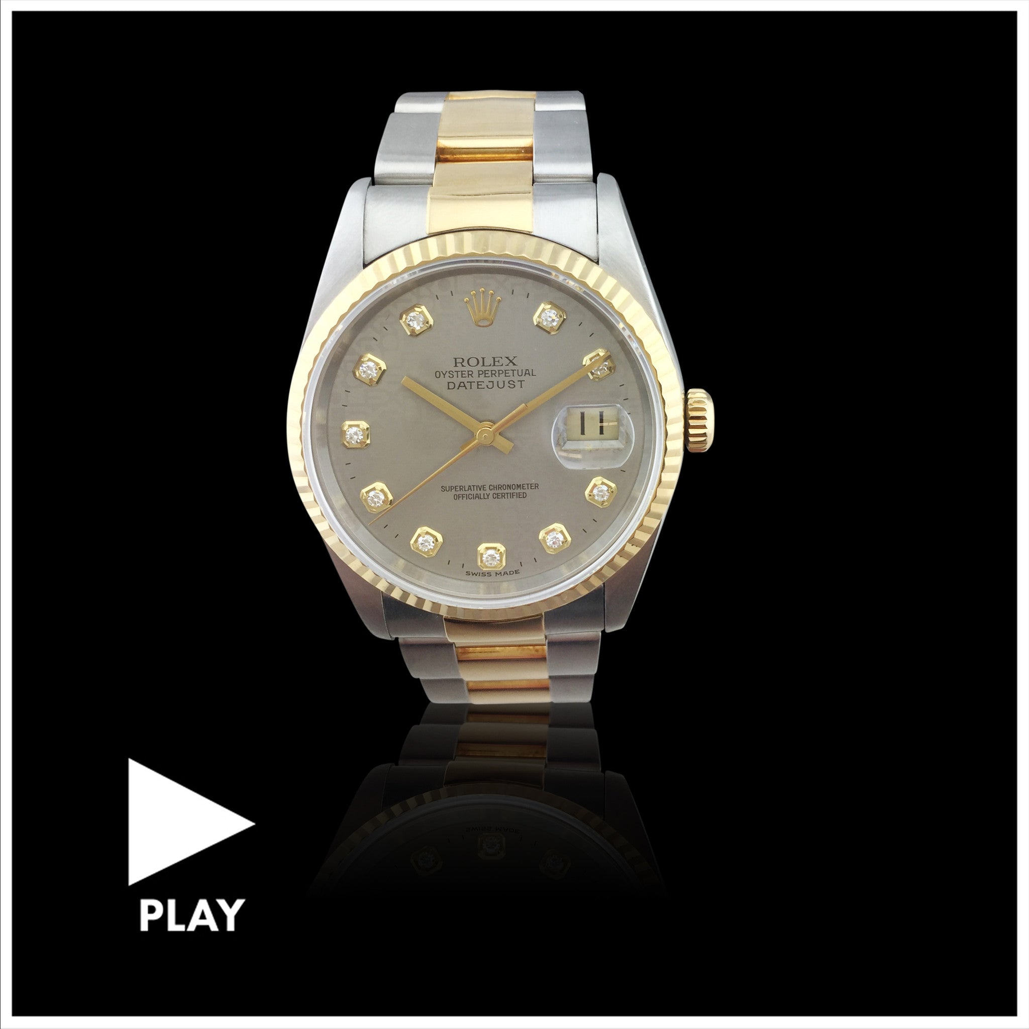 Rolex Two Tone Datejust Wristwatch