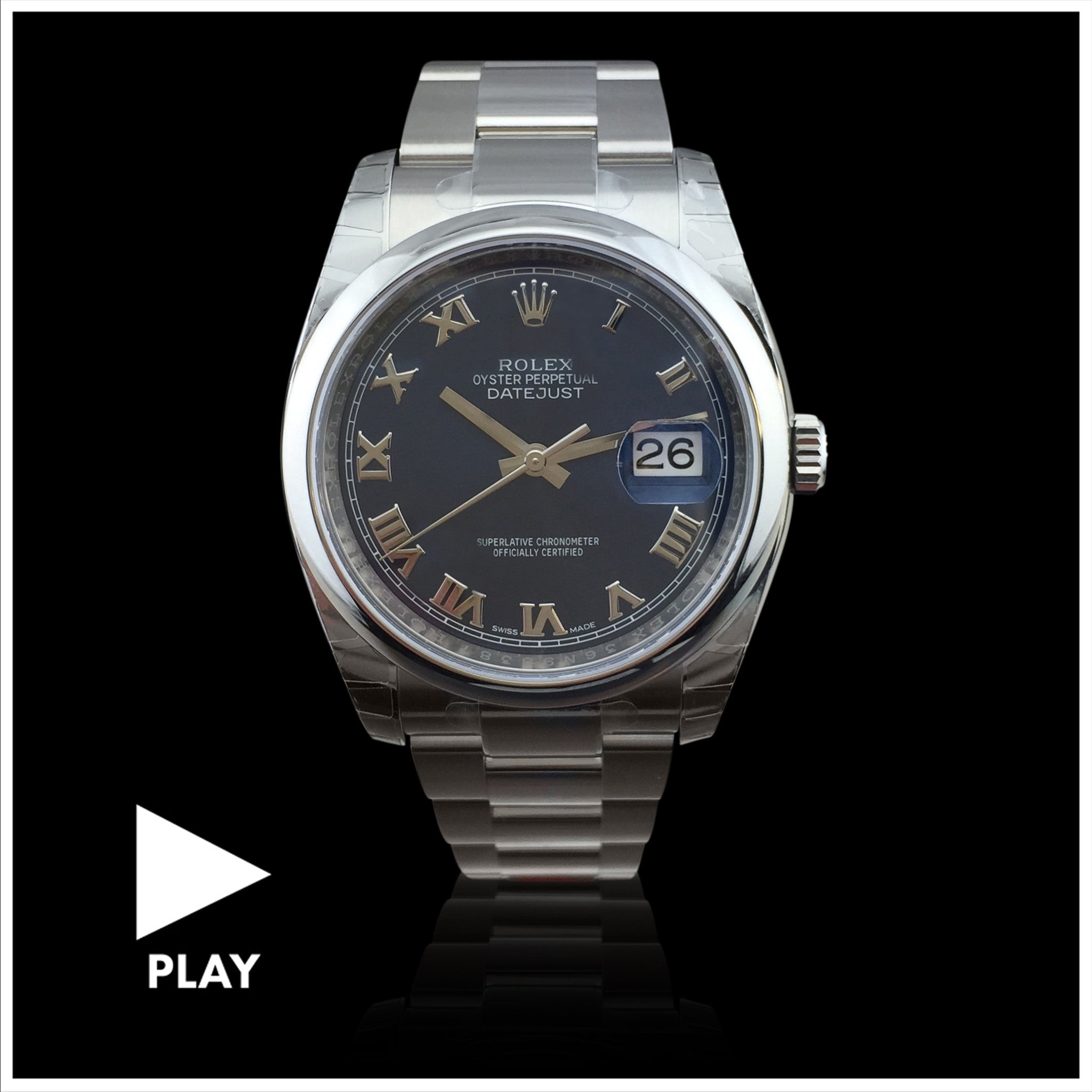 Rolex Datejust Stainless Steel Wristwatch