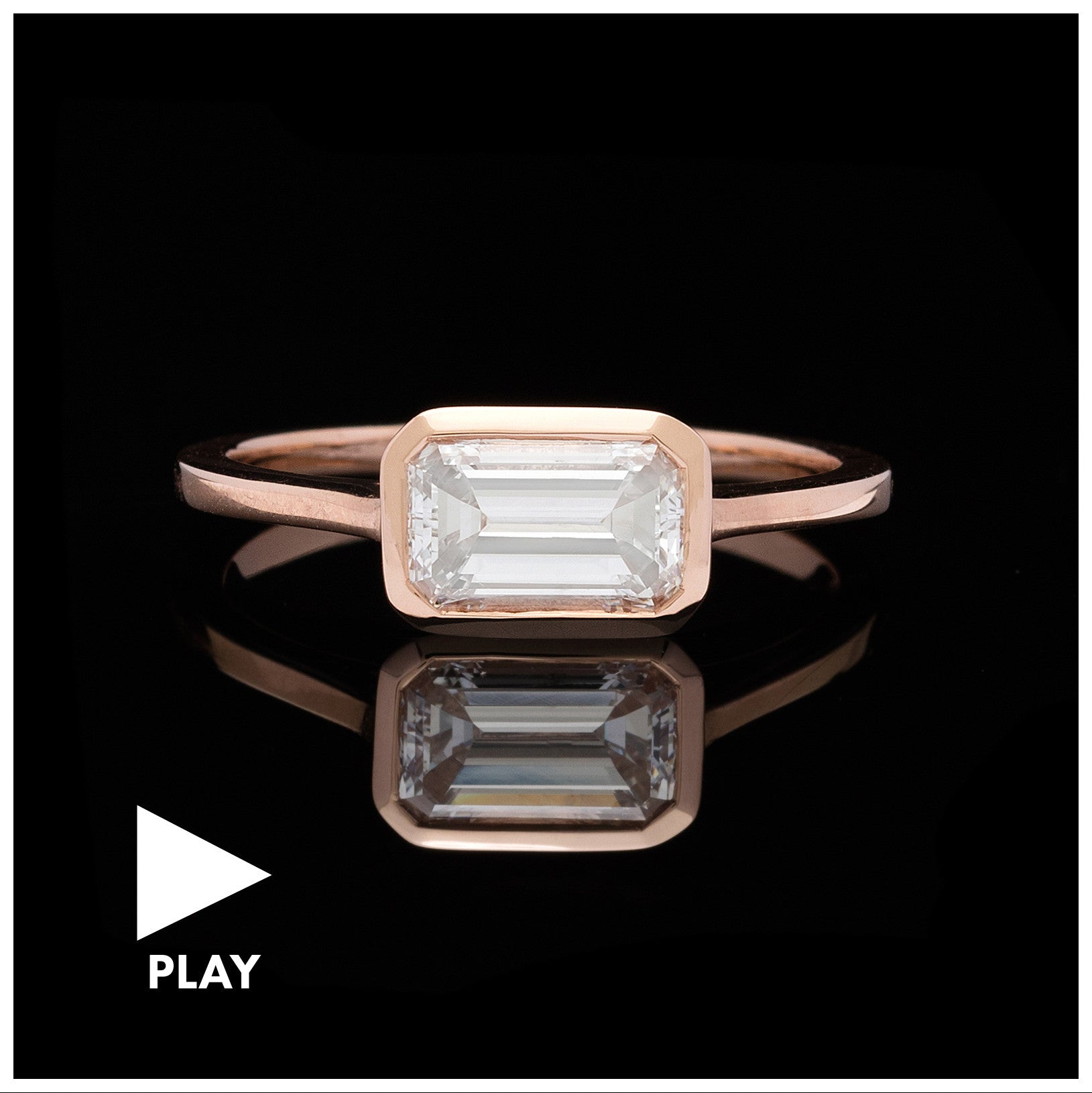 1.02-ct Emerald-Cut Diamond Rose Gold Engagement Ring