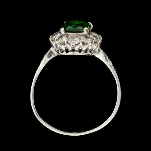 1.15ct Tsavorite & Diamonds Ring