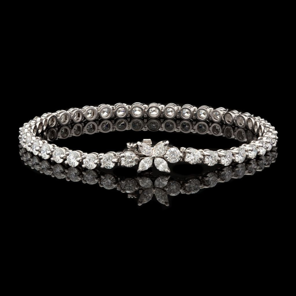 49d7c3d7e Home Products Tiffany & Co. Diamond Victoria Line Bracelet. 53082a; 53082b;  53082c; 53082d