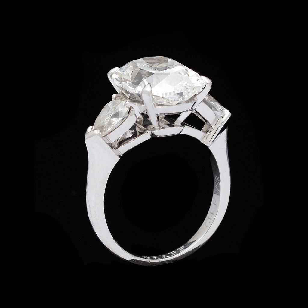 asscher cut ring platinum diamond euros accent cushion diamonds products