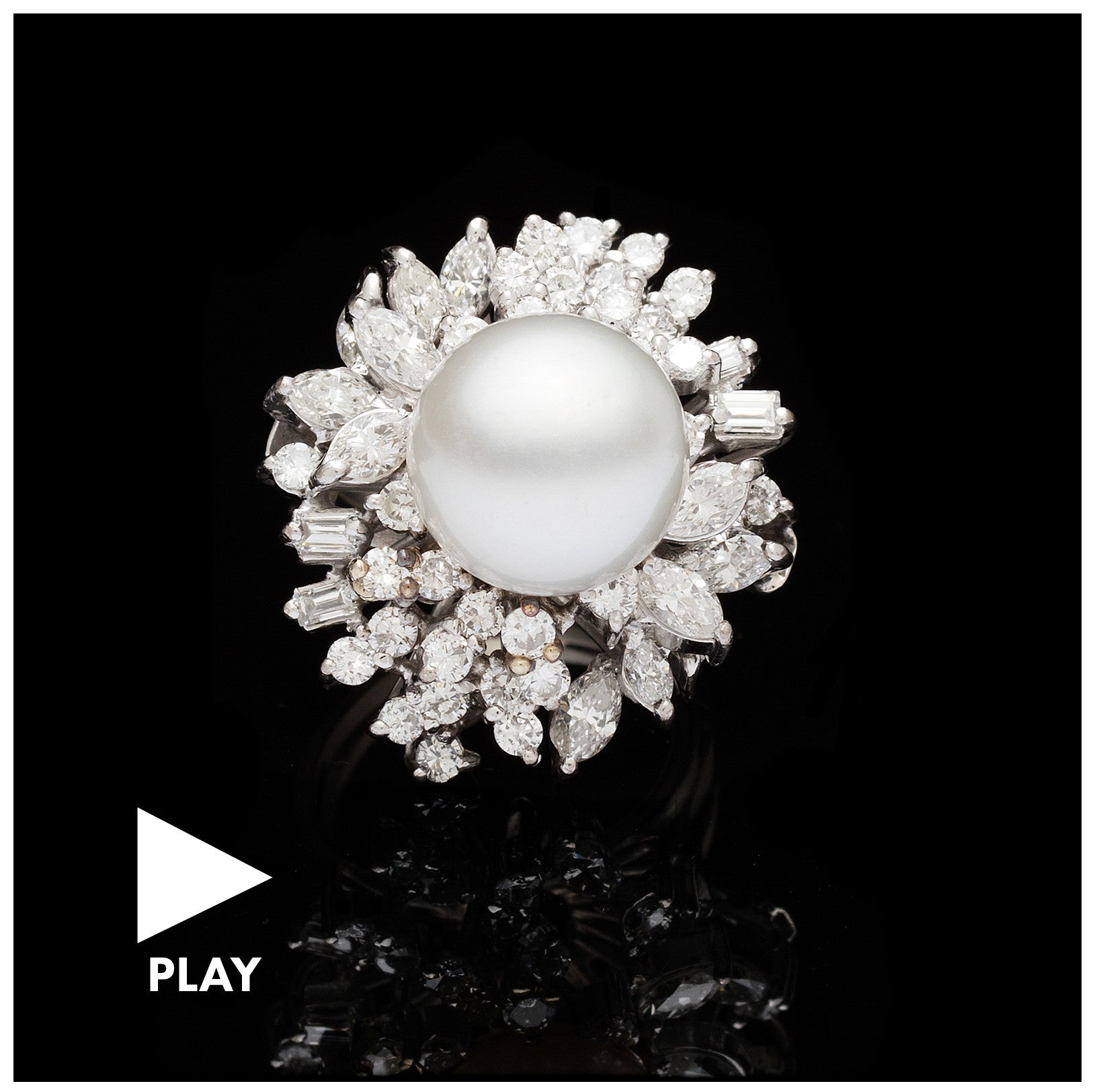 Vintage Pearl & Diamond Cocktail Ring, Price Upon Request