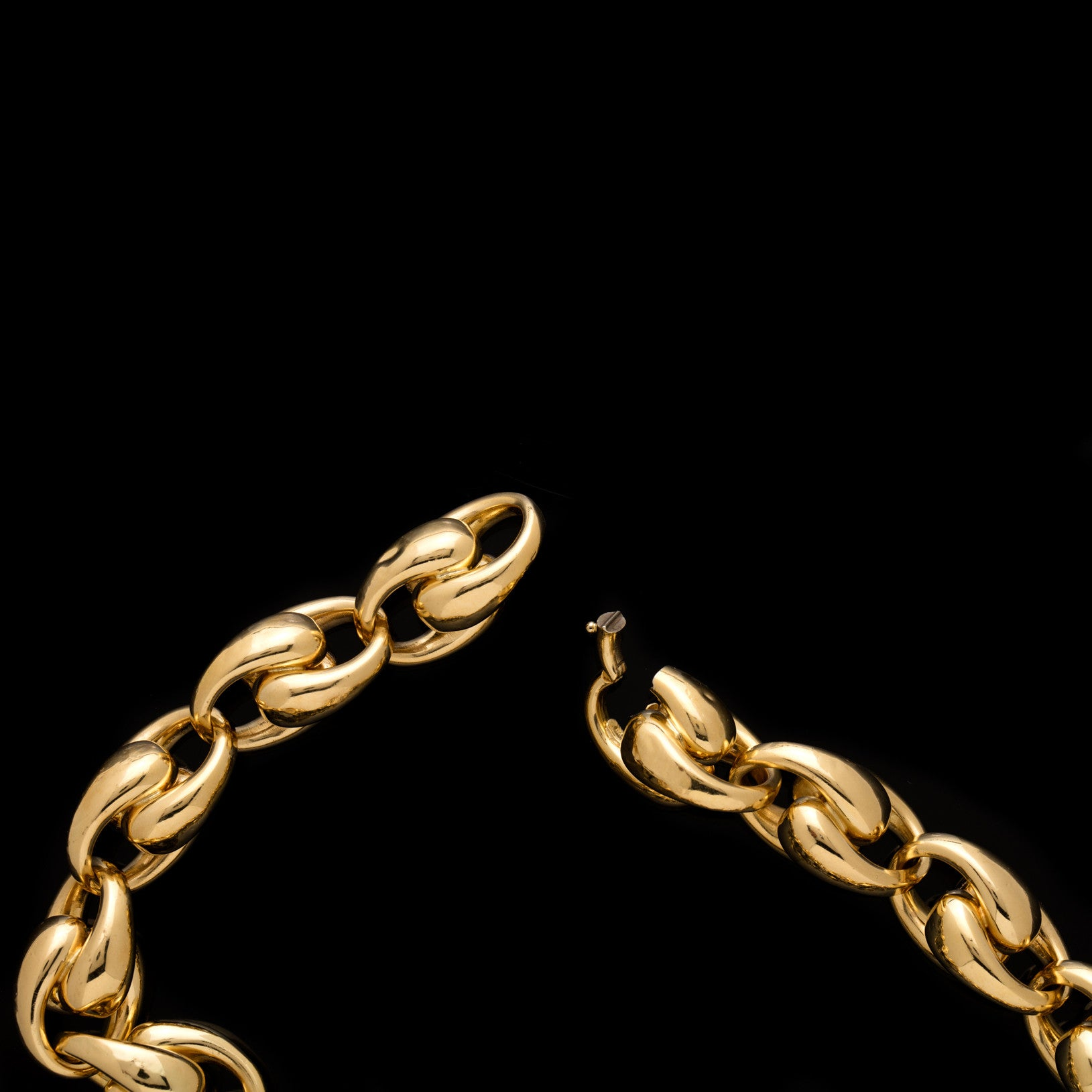 18k Vintage Exaggerated Link Necklace