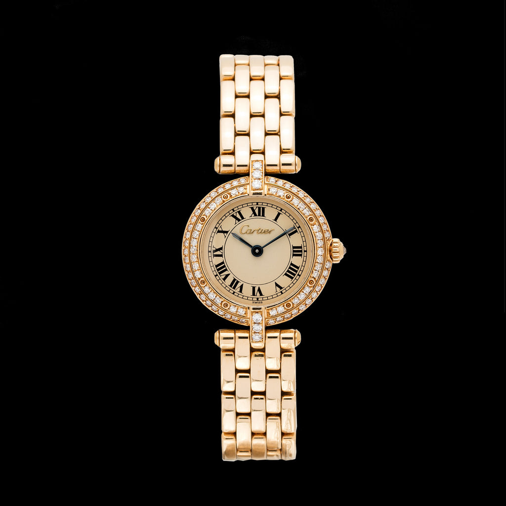 Cartier Panthere Vendome Diamond Yellow Gold Watch 66mint Fine