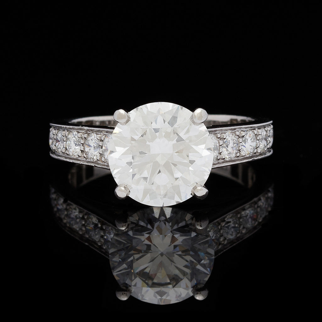 Gorgeous Cartier Diamond Engagement Ring Gia 2 41 Carats 66mint