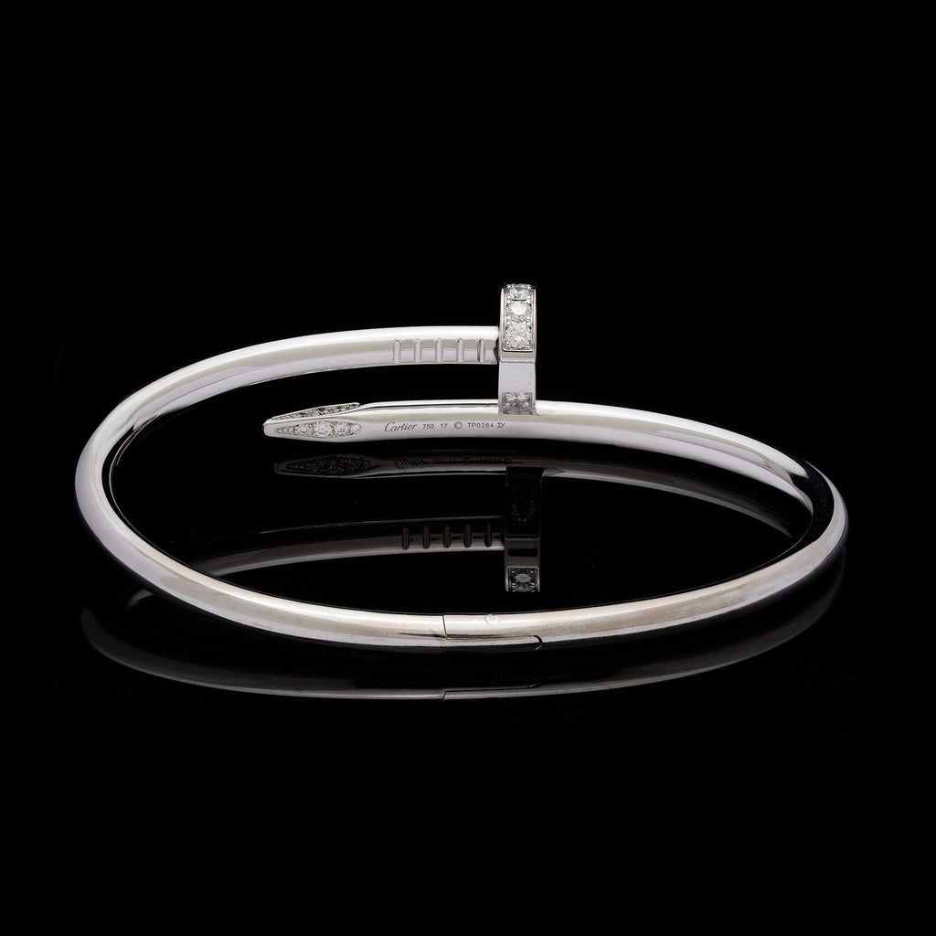 un clou bracelet juste lyst metallic cartier in jewelry white