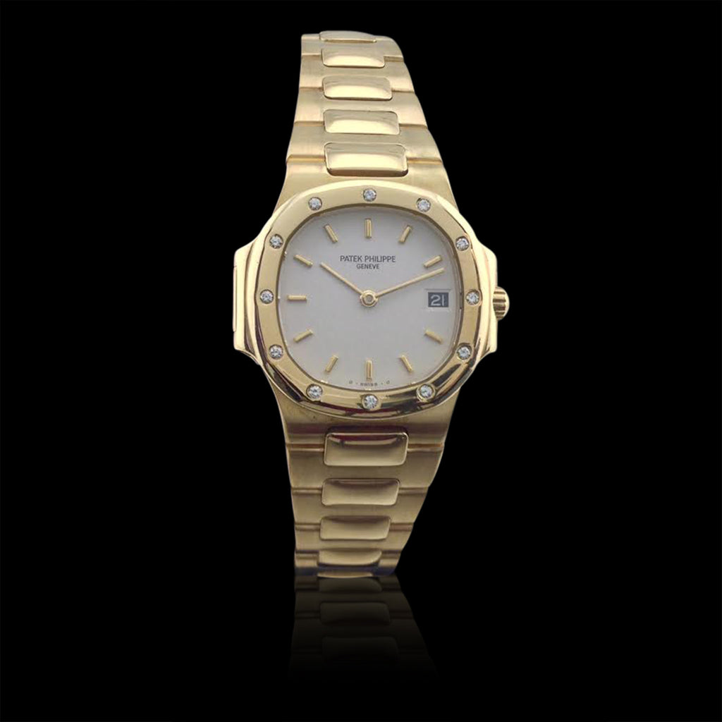 Patek - Nautilus Fine Jewelry And Diamond Wristwatch 66mint 18k Gold Estate Ladies Philippe