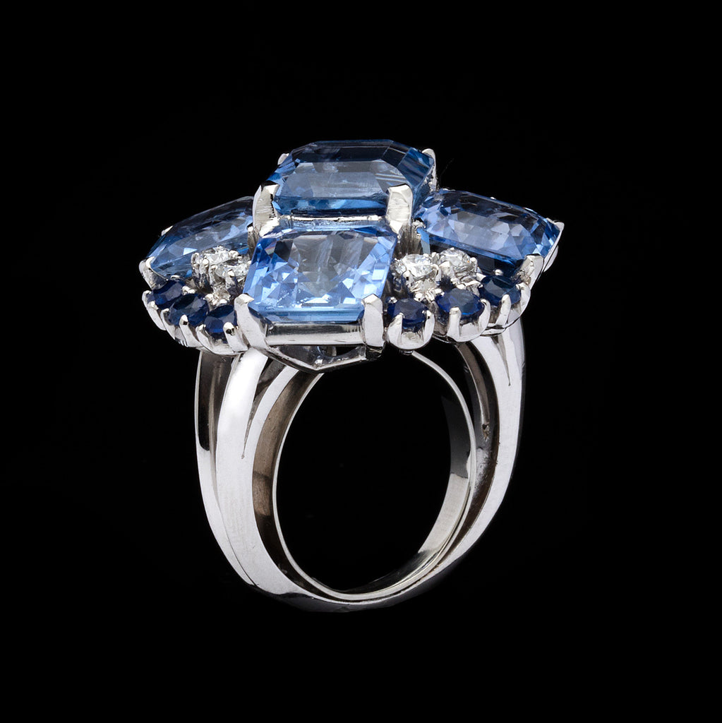 other sapphire diamond ring cocktail brand new i and ladies tradesy