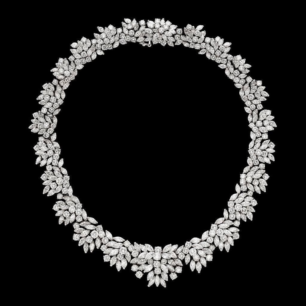 for pear necklaces round marquis at choker necklace of set featuring jewelry id elegant diamond in carats classic j platinum and sale
