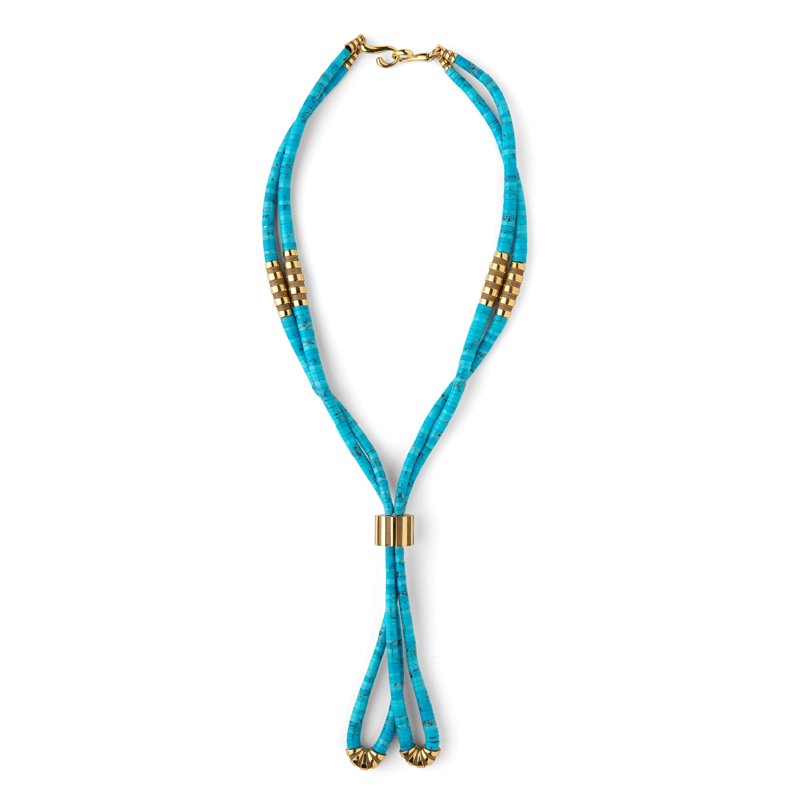 Mauboussin 'Nadja' Turquoise & Gold Necklace