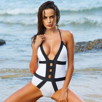 Mosqueiro Black&White One piece swimwear - Aqua Melia