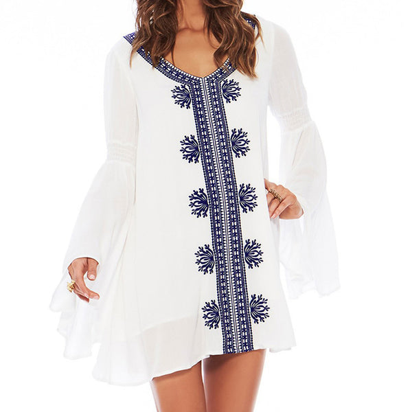 Alegranza Cotton Tunic Dress beachwear - Aqua Melia