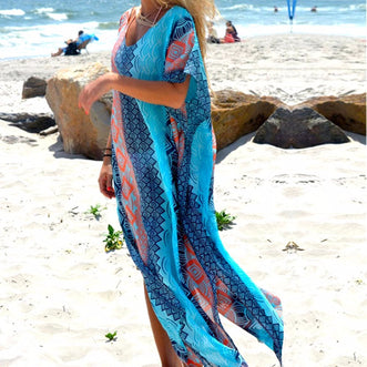 Galente Bohemio Long Cover Up beachwear - Aqua Melia