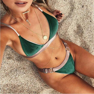 Brazilian Velvet Two Piece swimwear - Aqua Melia