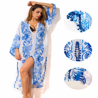 Lampedusa Blue Cover Up beachwear - Aqua Melia