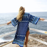 Lavanderas Long Cover Up  - Aqua Melia