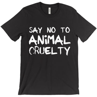 Men's Say No To Animal Cruelty T-Shirt - PrimaVegan
