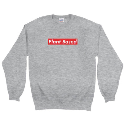 Men's Plant Based Red Sweatshirt - PrimaVegan