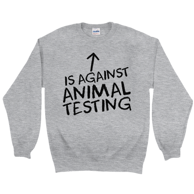 Men's Against Animal Testing Sweatshirt - PrimaVegan