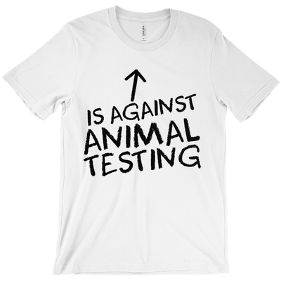 Women's Against Animal Testing Tee - PrimaVegan