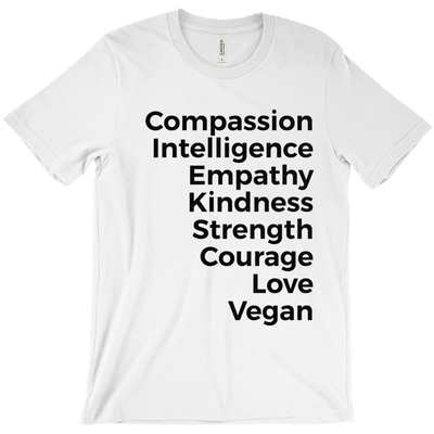 Women's Vegan Values shirt - PrimaVegan