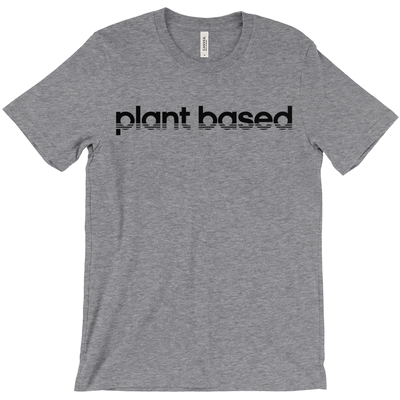 Womens Plant Based Stripes Tee - PrimaVegan