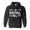 Women's Say No To Animal Cruelty Hoodie - PrimaVegan