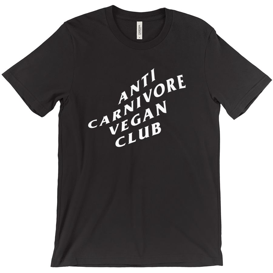 Women's Anti Carnivore Vegan Club T-Shirt - PrimaVegan